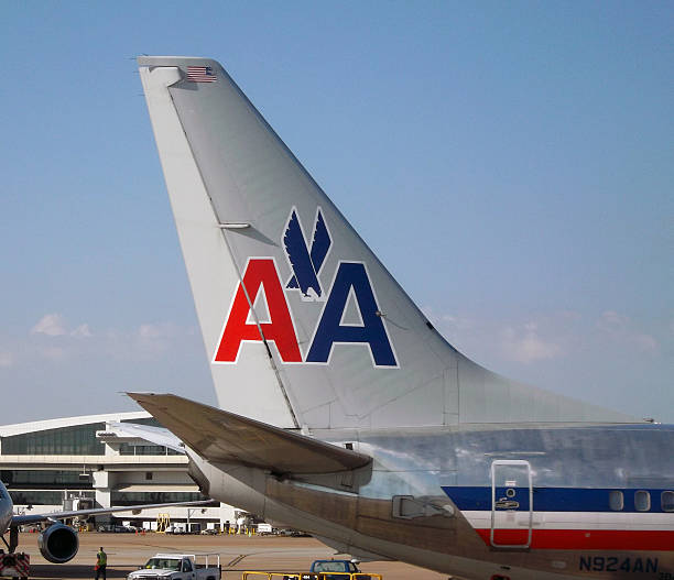 American Airlines 737 Tail stock photo