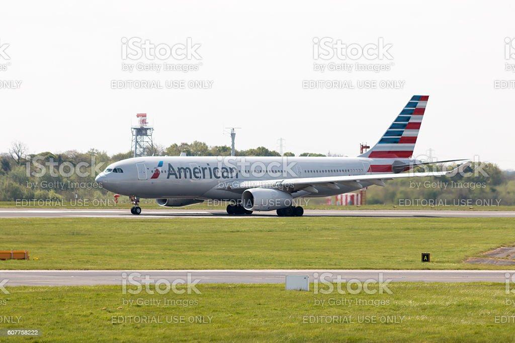 American Airlines A330 - foto de acervo