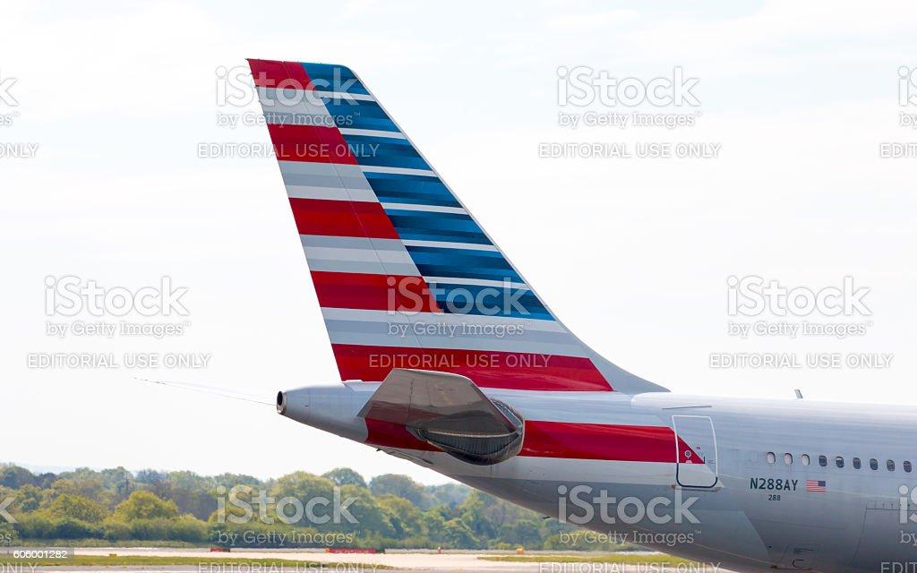 American Airlines A330 Tail - foto de acervo