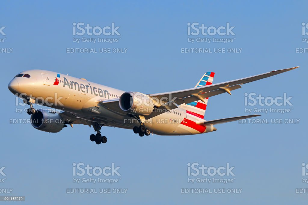 American Airlines aircraft stock photo