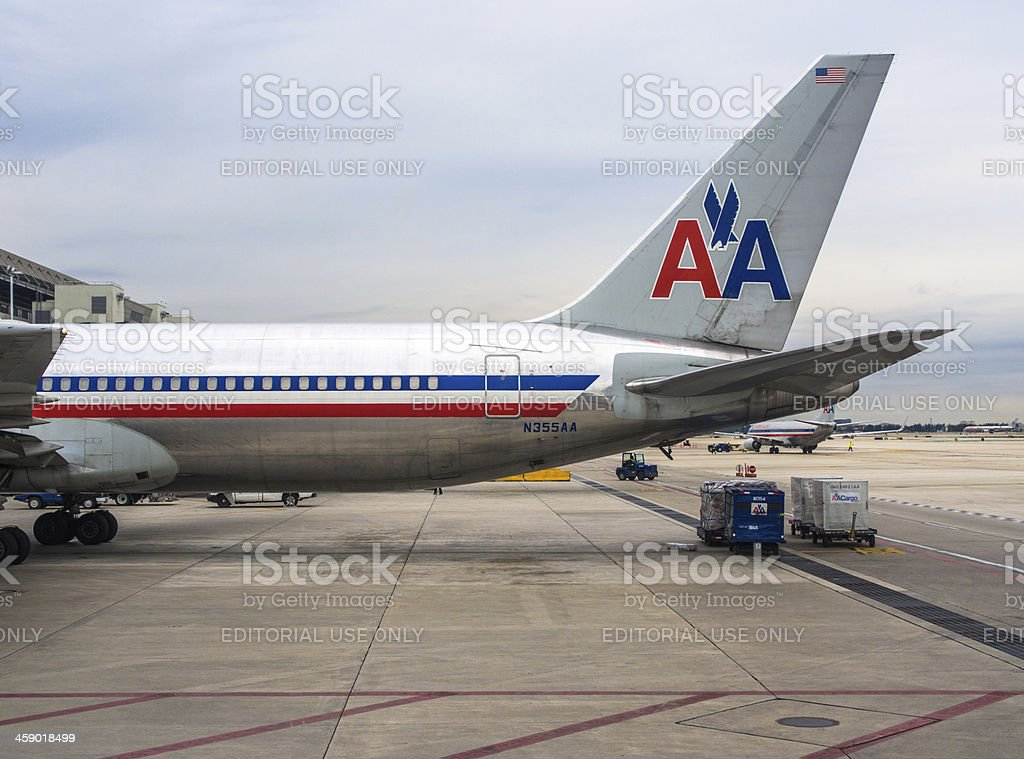 American Airlines Airplane stock photo