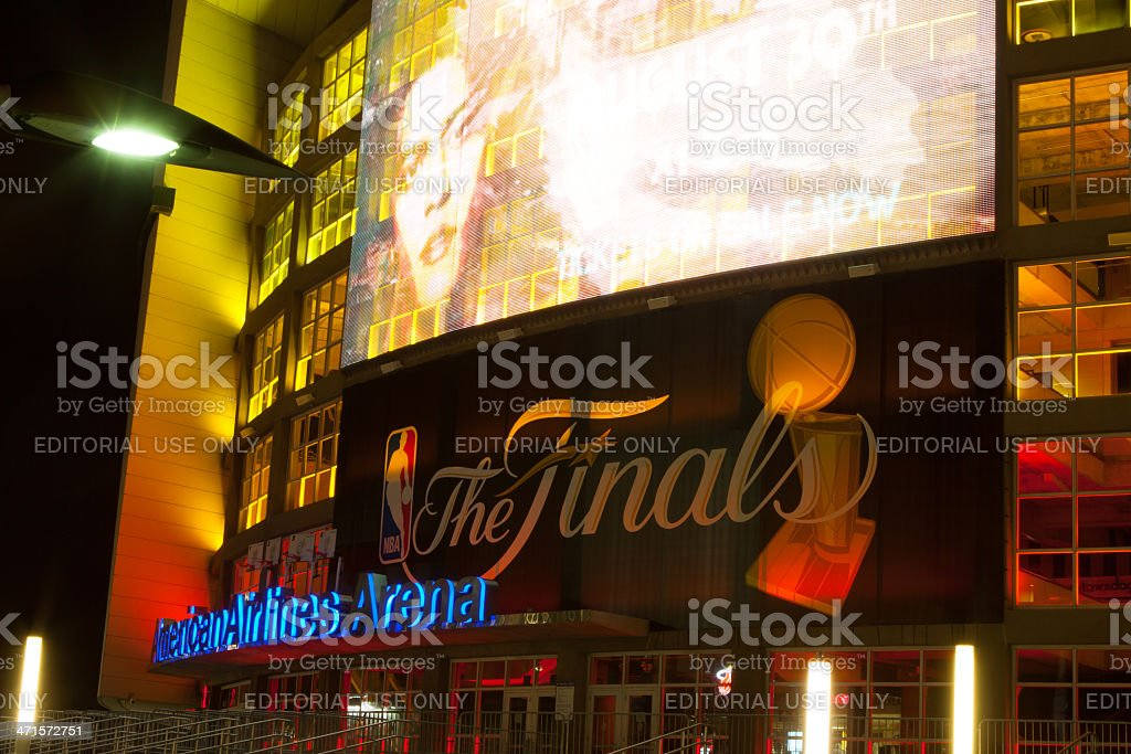 American Airlines Arean ready for the Finals stock photo