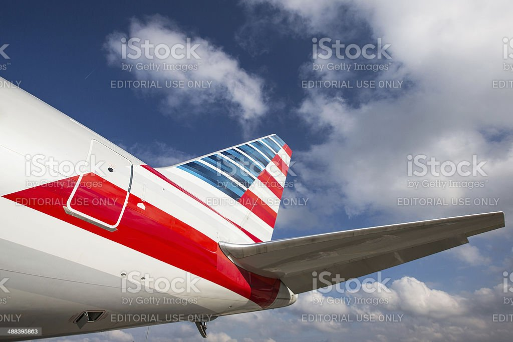 American Airlines Boeing 767 Tail stock photo