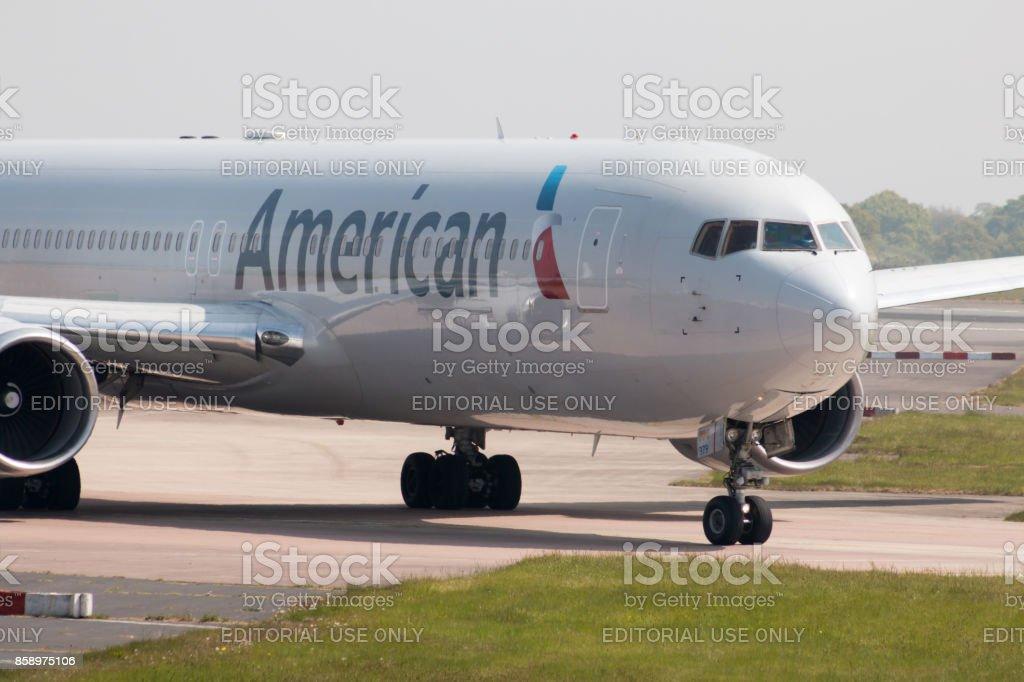 American Airlines Boeing 767-300 - foto de acervo