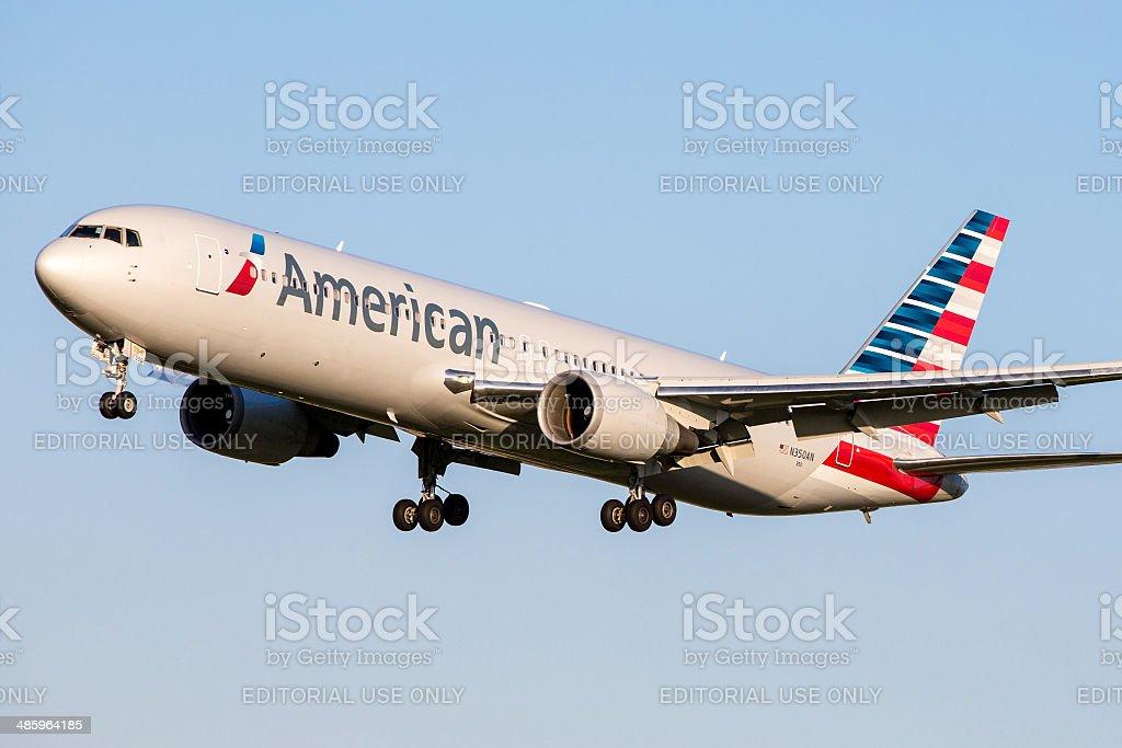 American Airlines Boeing 767-300 ER / - foto de acervo