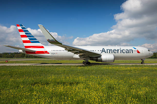 American Airlines Boeing 767-300/ER stock photo