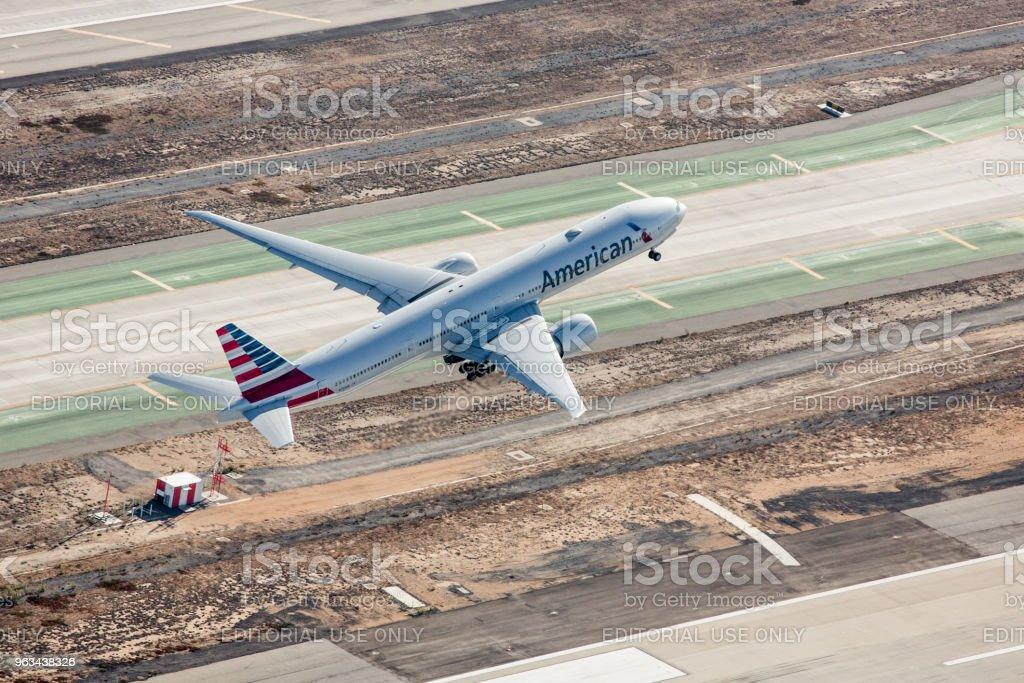 American Airlines Boeing 777 - Photo de Affaires Finance et Industrie libre de droits