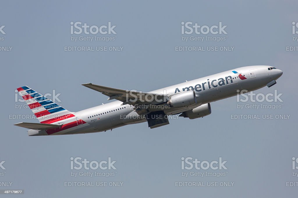 American Airlines Boeing 777-200 stock photo
