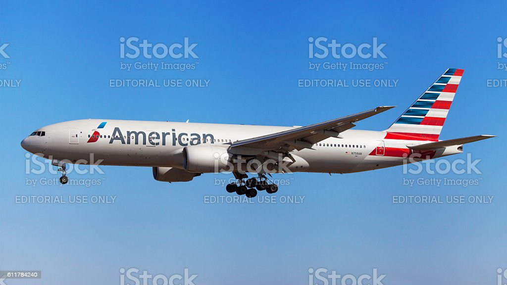 American Airlines Boeing 777-200ER - foto de acervo