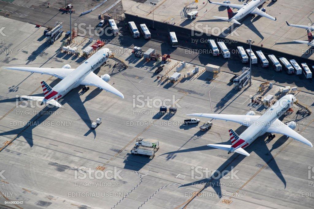 American Airlines Boeing 787 Dreamliner - foto de acervo