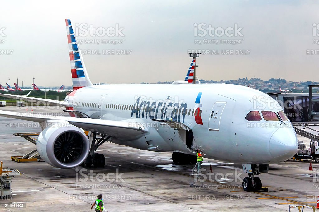 American Airlines Boeing 787-8 Dreamliner stock photo