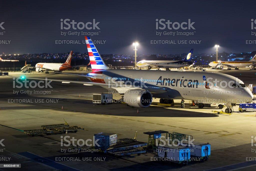 American Airlines - Boeing 787-8 Dreamliner - foto de acervo