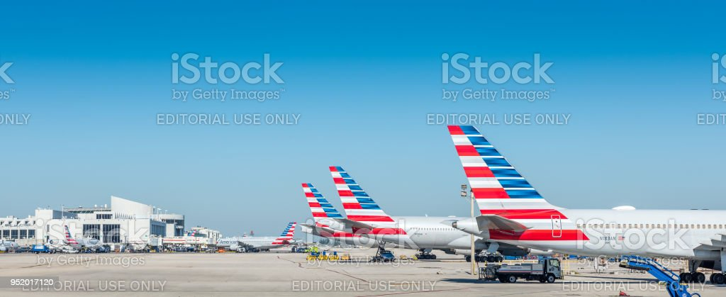 Frota de American Airlines - foto de acervo