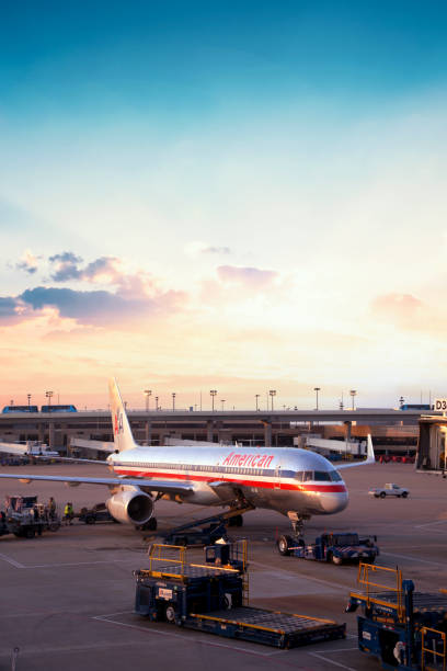 American Airlines in Dallas Texas stock photo stock photo