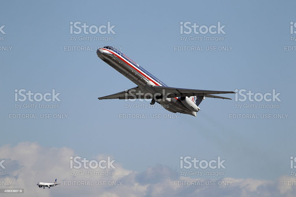 American Airlines McDonnell Douglas MD-82 royalty-free stock photo