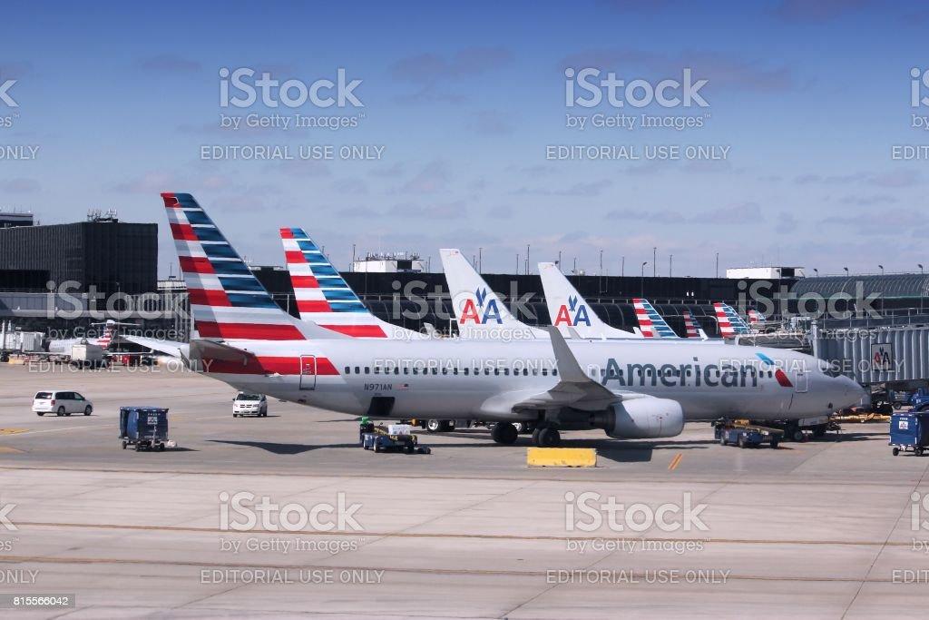 American Airlines - foto de acervo