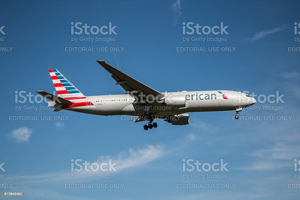 American Airlines plane stock photo