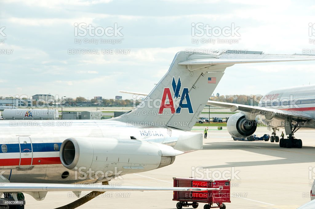 American Airlines planes royalty-free stock photo