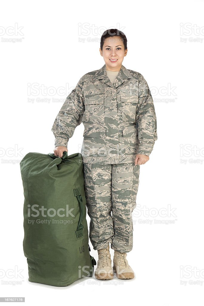 American Airwoman Portrait stock photo