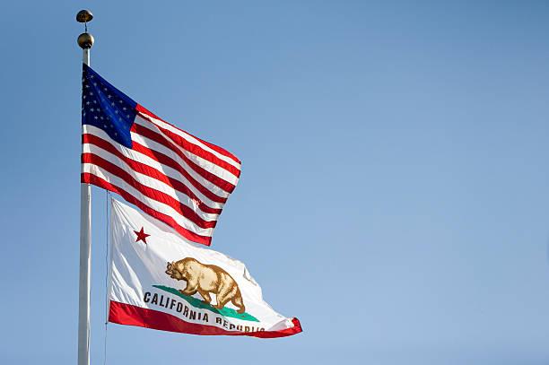 American Flags y californiana - foto de stock