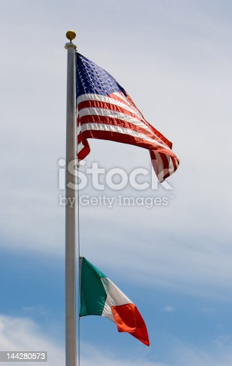 937074172 istock photo American and Italian Flags 144280573