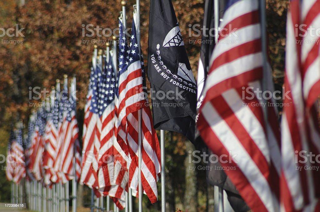 American and POW/MIA Flag royalty-free stock photo