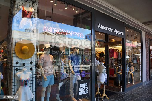 istock American Apparel fashion store  at the Ala Moana Center 687850102