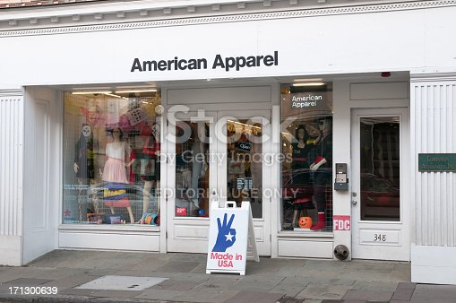 istock American Apparel store in Charleston, South Carolina, USA 171300639