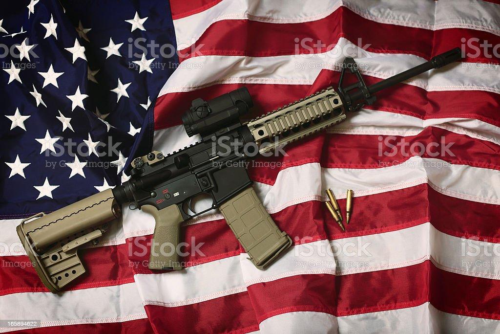 American AR-15 stock photo