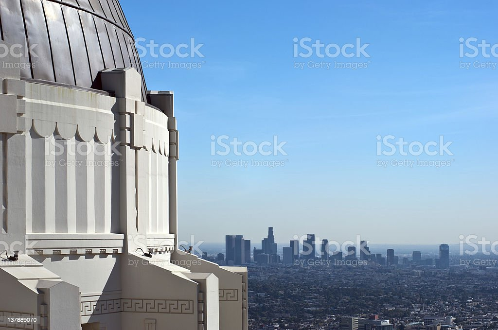 American Architecture / California: Griffith Park Observatory Skyline Los Angeles USA stock photo