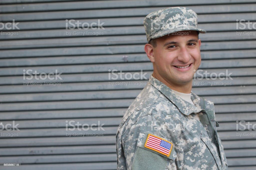 American Army Soldier stock photo