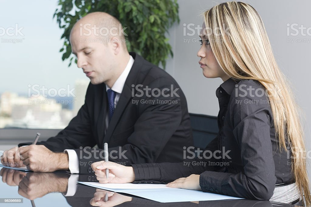 American Asian business team royalty-free stock photo