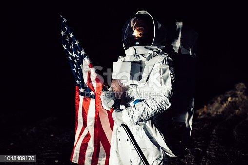 istock American Astronaut 1048409170