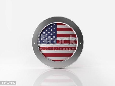 istock American Badge On White Background 884007890
