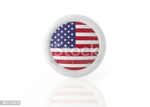 istock American Badge On White Background 901214878