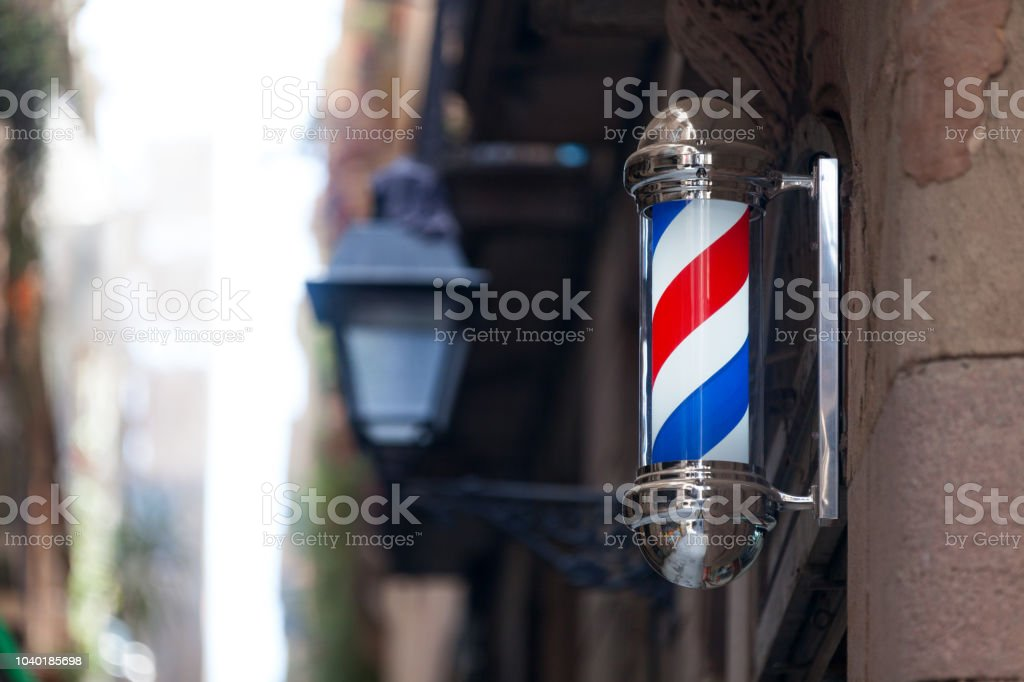 American Barber's pole stock photo