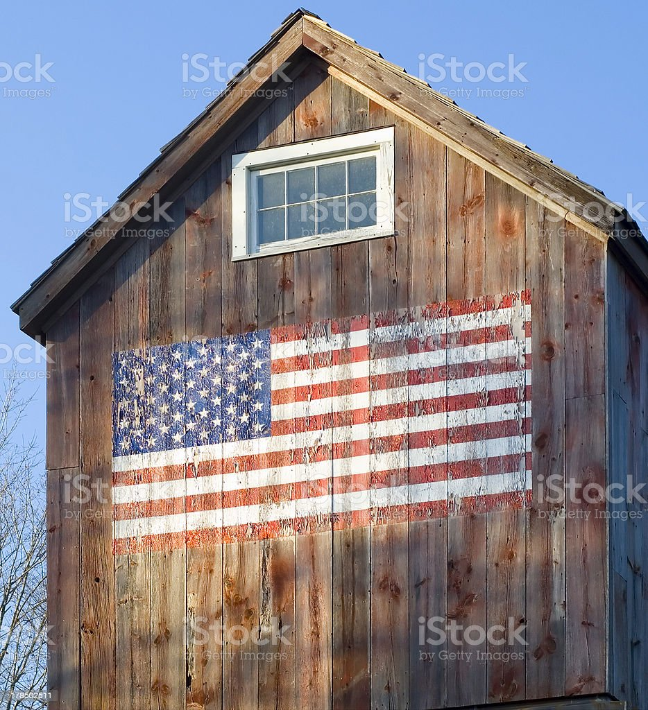 American Barn a stock photo