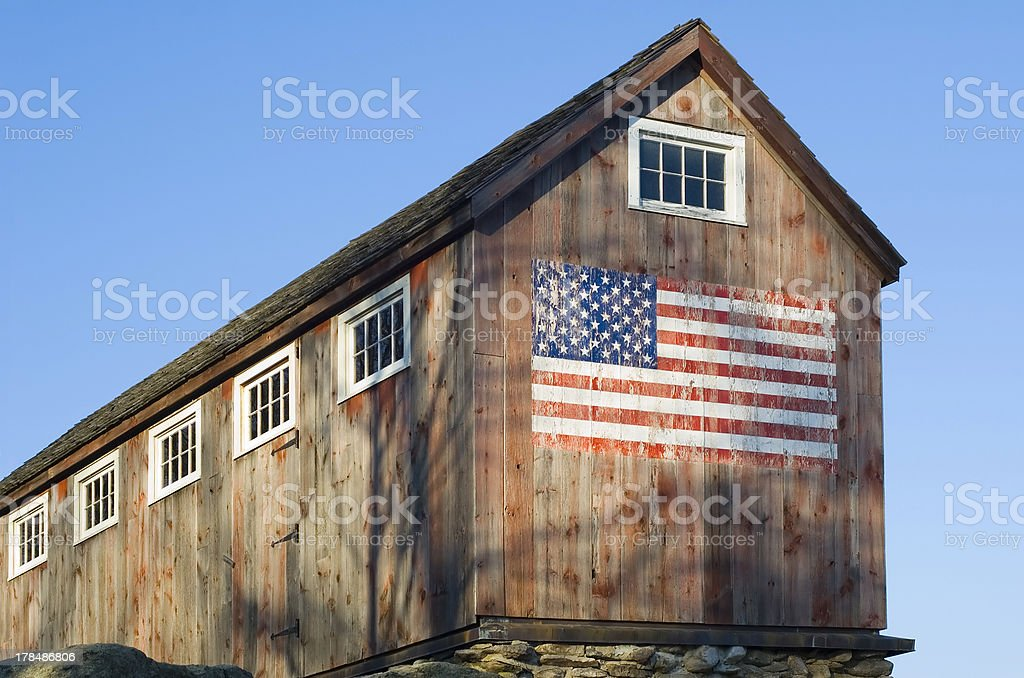 American Barn royalty-free stock photo