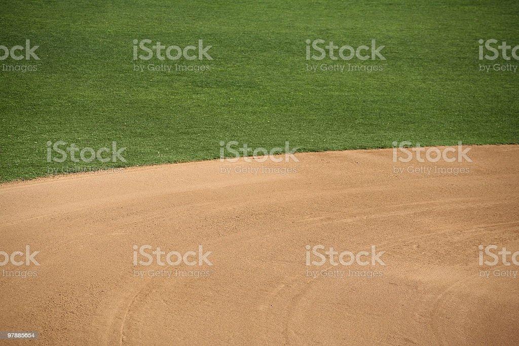 American baseball field stock photo