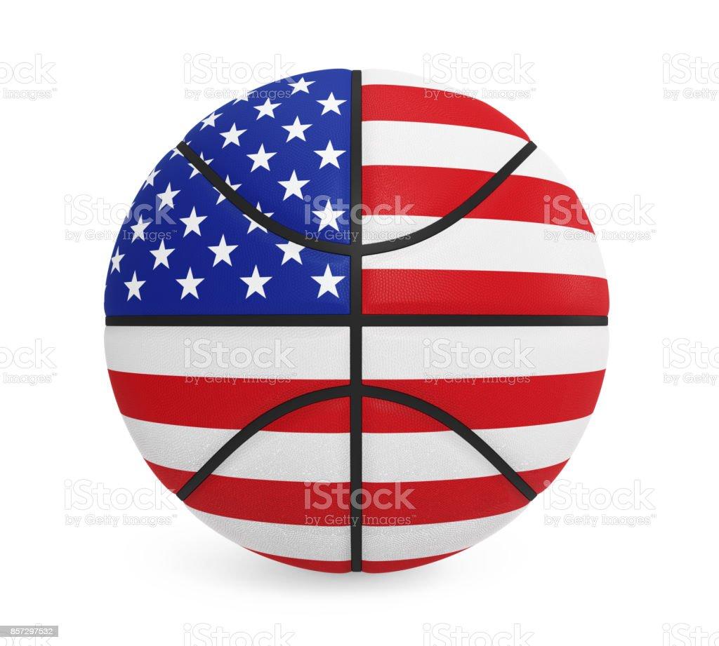 American Basketball Isolated stock photo