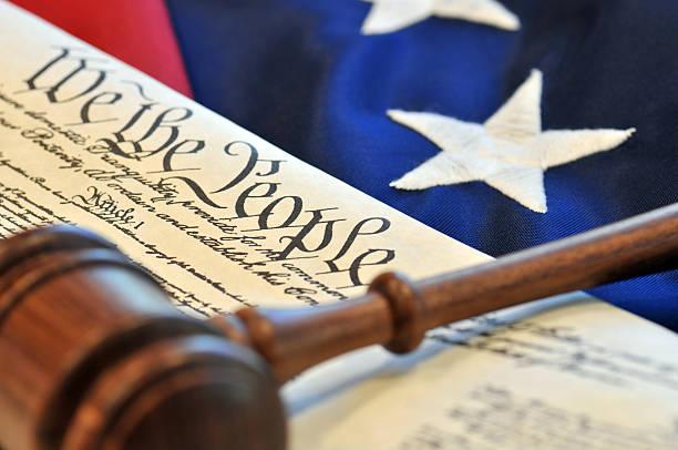 American Beginnings - US Constitution stock photo
