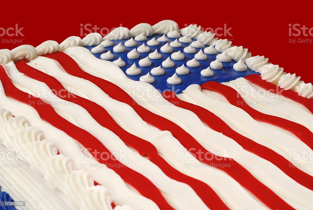 American Birthday Cake Stock Photo More Pictures Of American
