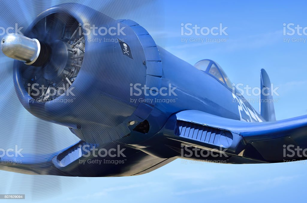 American blue carrier-based fighter, since World War II stock photo
