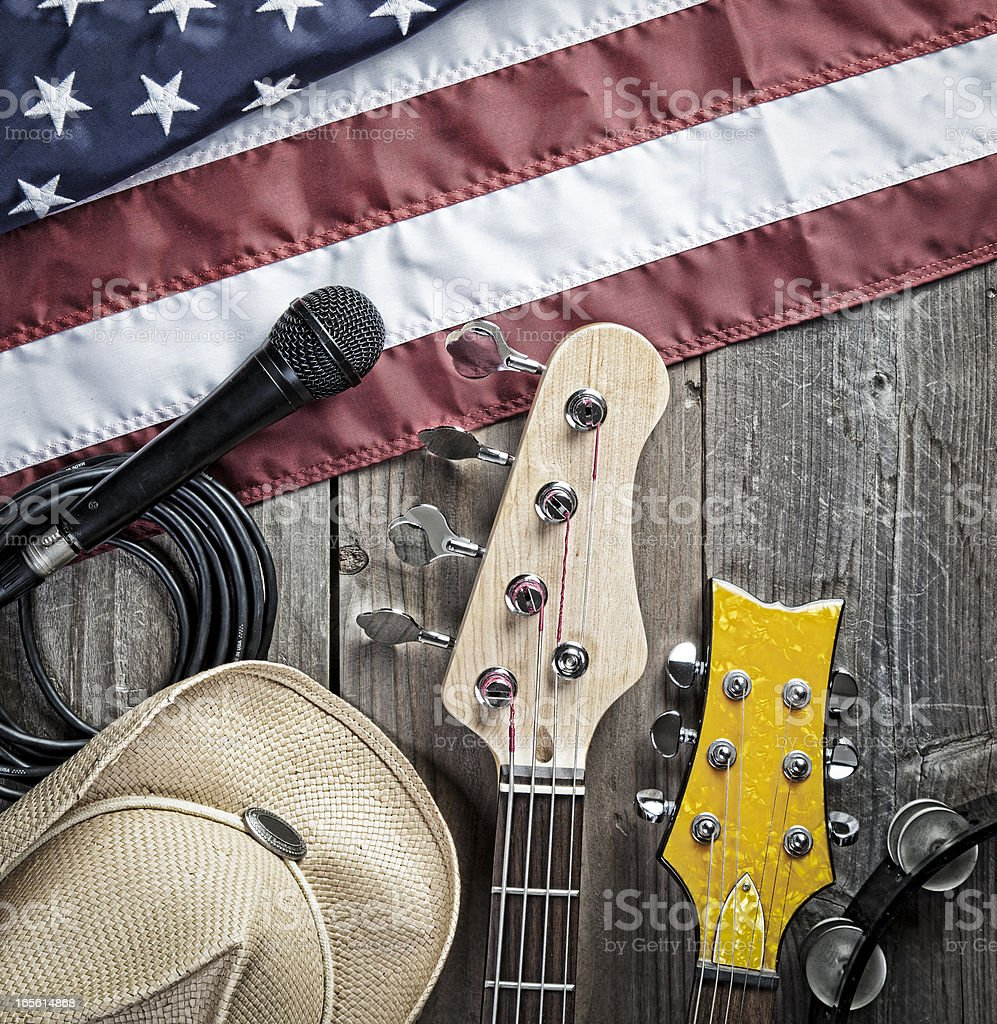 American Blues. Country Music. stock photo