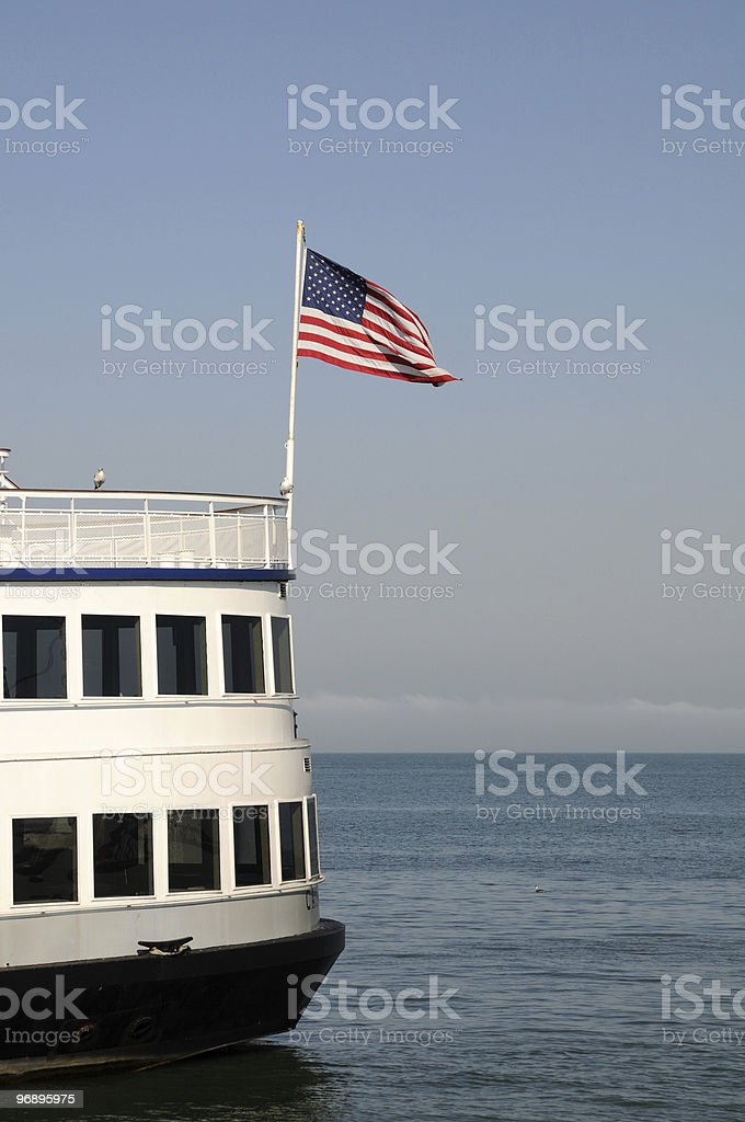 American boat royalty-free stock photo