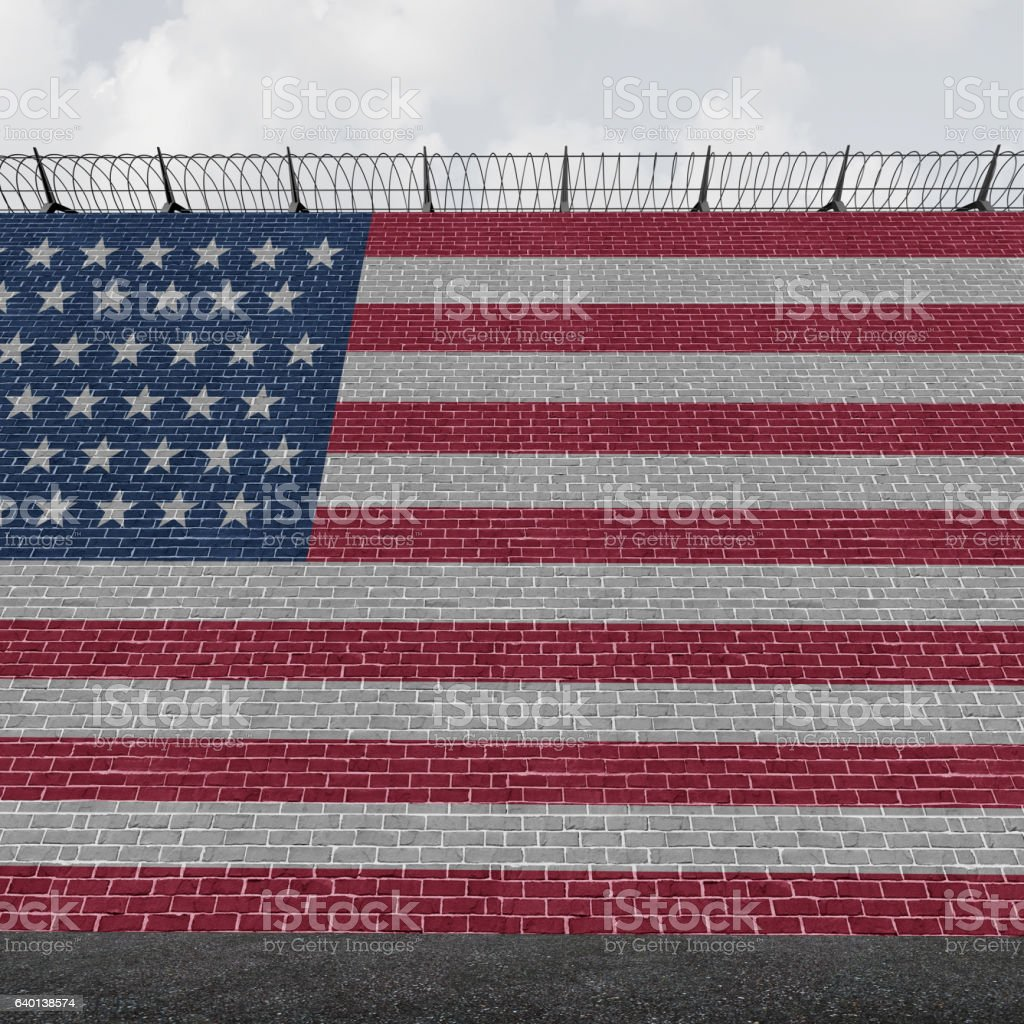 American Border Wall stock photo