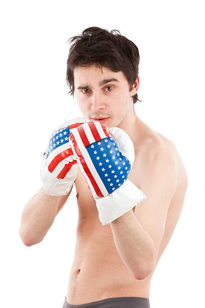 American boxer stock photo
