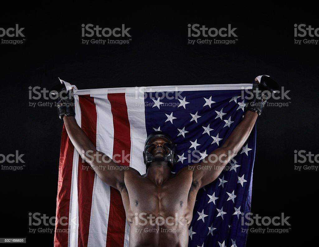 American boxing champion stock photo