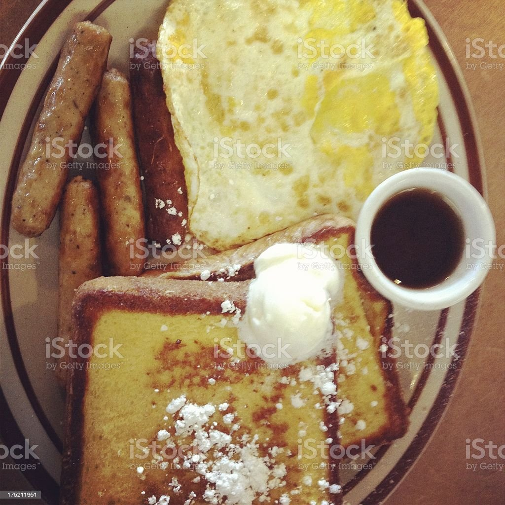 American Breakfast royalty-free stock photo