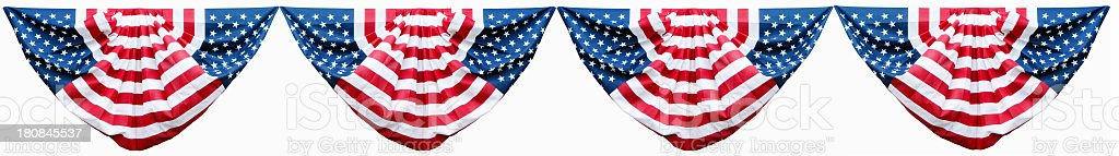 American Bunting Decorations stock photo